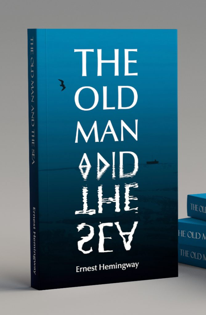 kati-lacey-illustration-typographic-book-cover-jacket-Hemingway-TheOldManAndTheSea-front-cover-design-classic