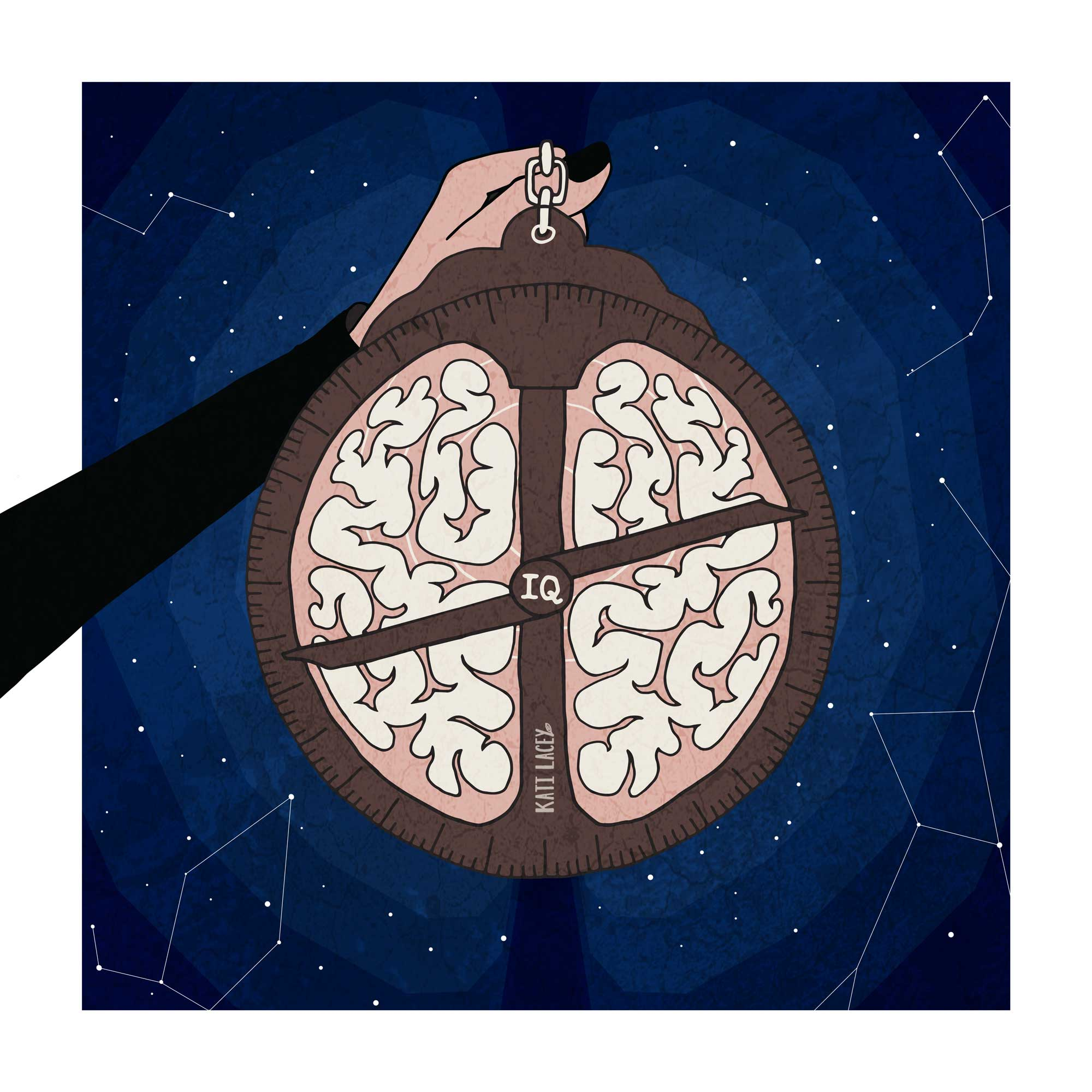 brain-astrolabe-navitaional-tool-editorial-illustration-illustrtator-Kati-Lacey