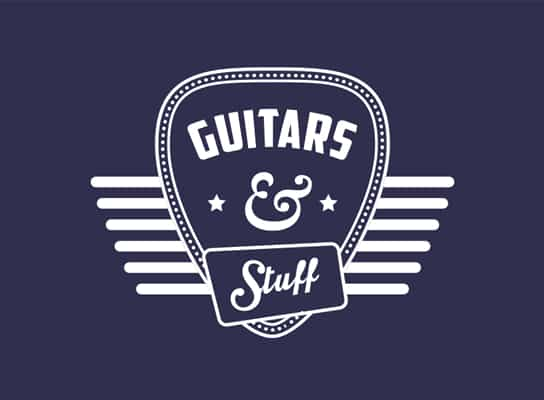 Guitars-and-stuff_logo_design_with_plectrum_AmericanDiner