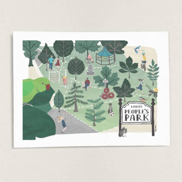 Banbury-People's-Park-Wall-Art-Print-Illustration-by-Kati-Lacey-Illustration