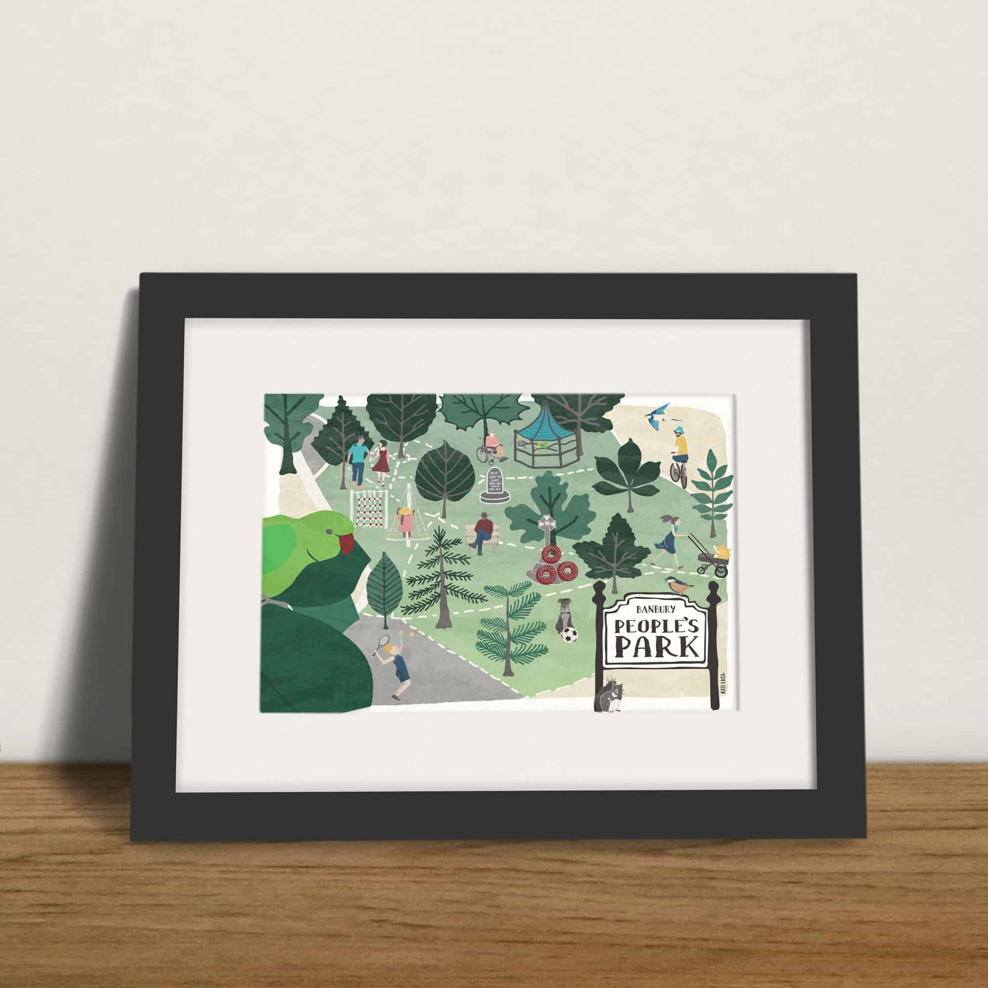 Banbury-People's-Park-Framed-Wall-Art-Print-Illustration-by-Kati-Lacey-Illustration