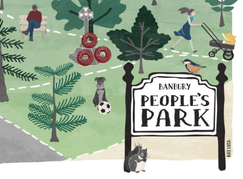 Illustrated Map // BANBURY PEOPLE'S PARK