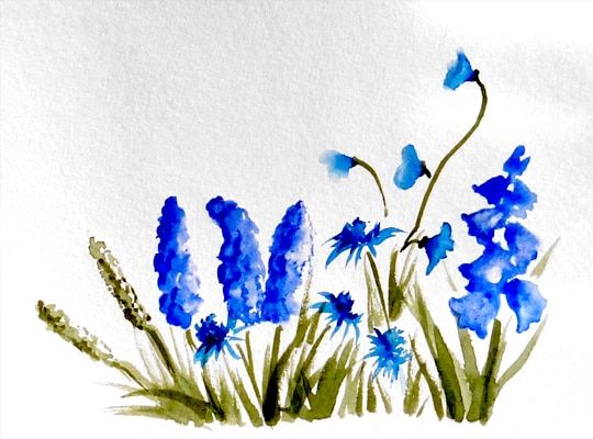 kati-lacey-illustration-watercolour-wild flowers-blue flowers-wedding-invite-stationery