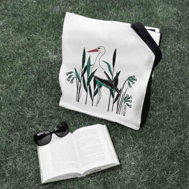Stork banboo luxury large two toneshopper bag