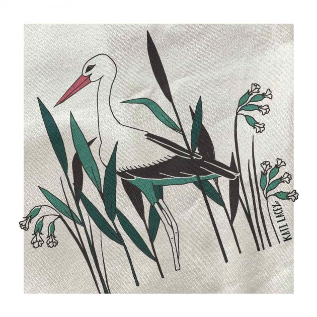 Stork banboo luxury large two toneshopper bag