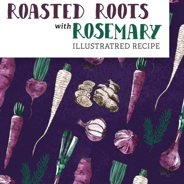 FOOD ILLUSTRATION // ROASTED ROOTS WITH ROSEMARY