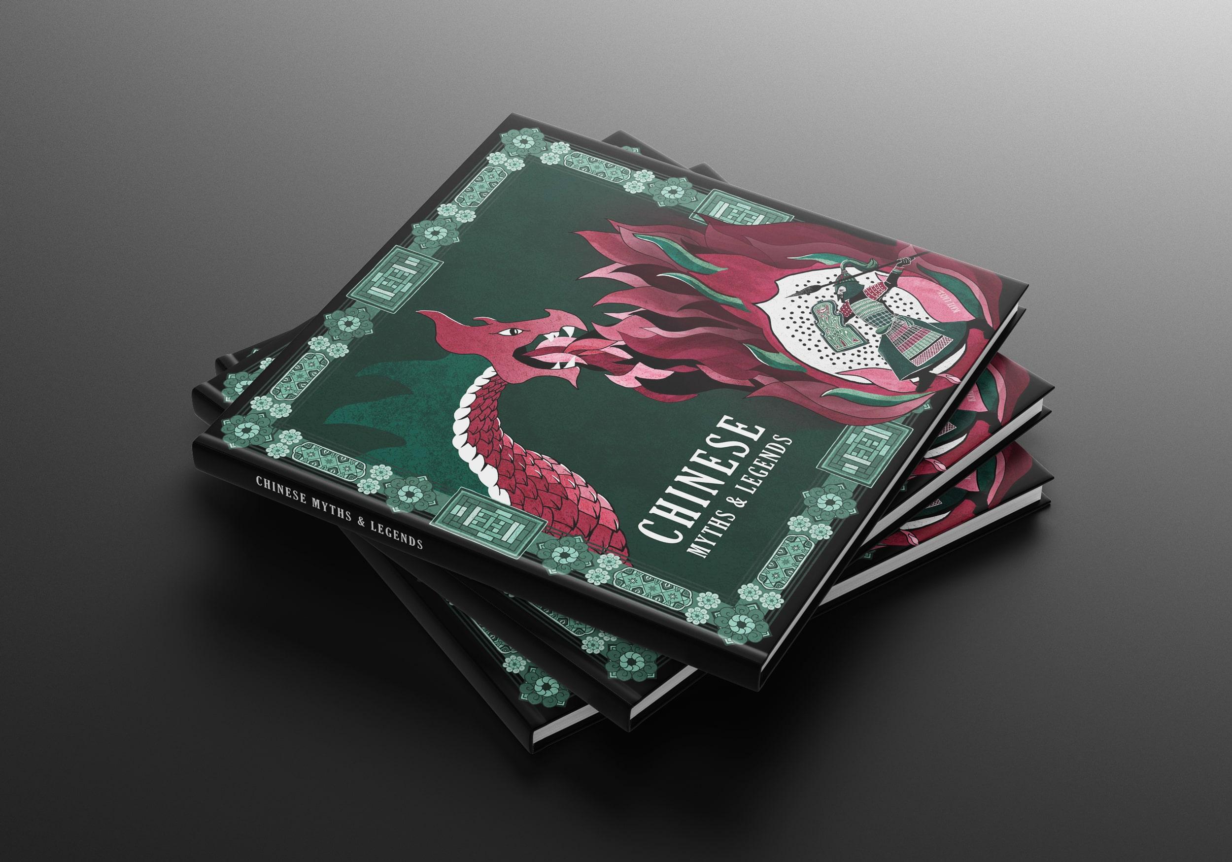 Chinese-myths-legends-book-cover-design-illustration
